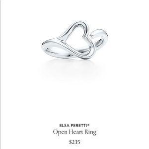 Tiffany & Co. Elsa Perertti Open Heart Ring